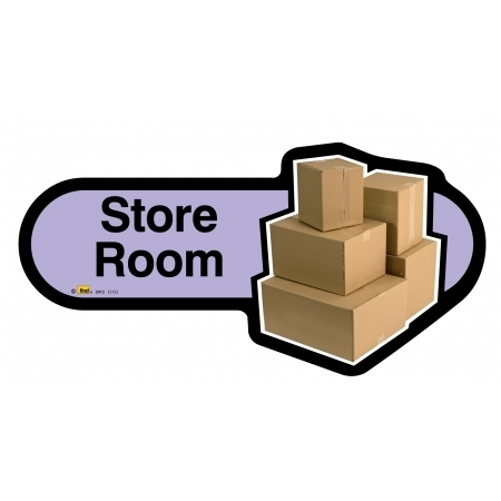 Store Room sign - 480mm - Lilac