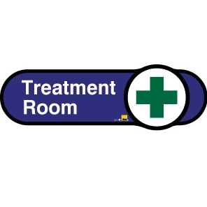 Treatment Room sign - 480mm - Blue