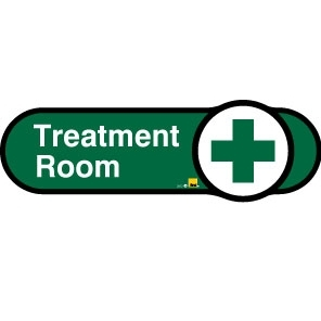 Treatment Room sign - 480mm - Green