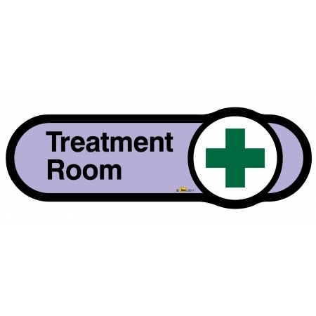 Treatment Room sign - 480mm - Lilac