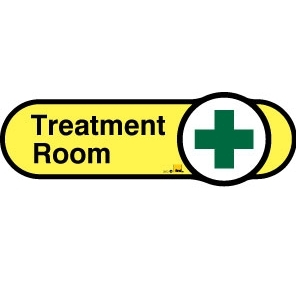 Treatment Room sign - 480mm - Yellow