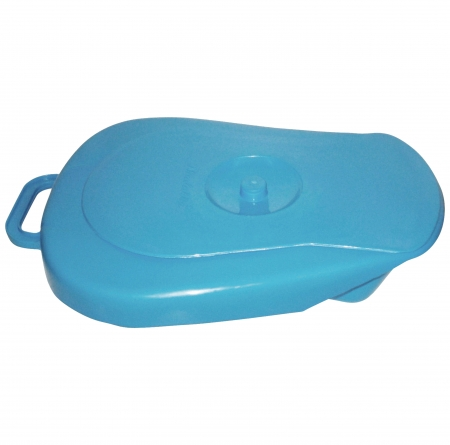 Plastic Bedpan with Lid