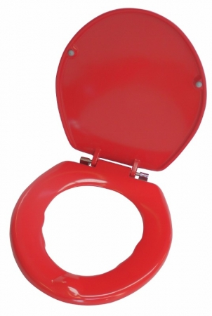Premium Stability Toilet Seat: Available in Blue or Red