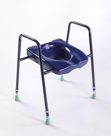 Premium Stability Toilet Seat: Blue