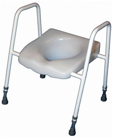 President Raised Toilet Seat And Frame - adjustable height and width