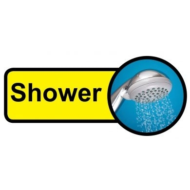 Shower sign - 480mm x 210mm