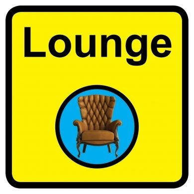 Lounge Sign Dementia Friendly - 300mm x 300mm