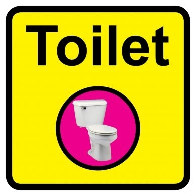 Toilet Sign Dementia Friendly - 300mm x 300mm
