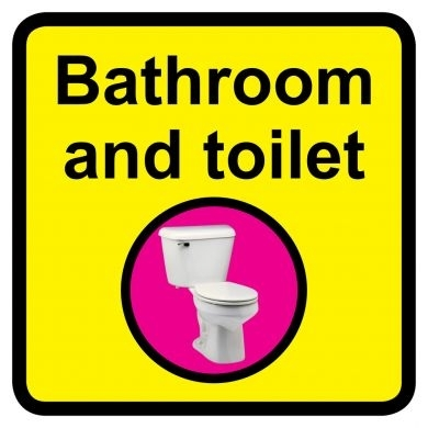 Bathroom and Toilet Sign Dementia Friendly - 300mm x 300mm