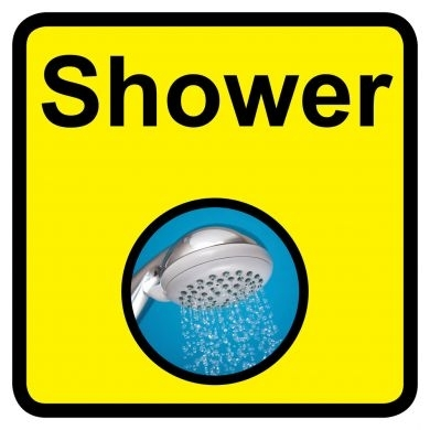 Shower Sign Dementia Friendly - 300mm x 300mm