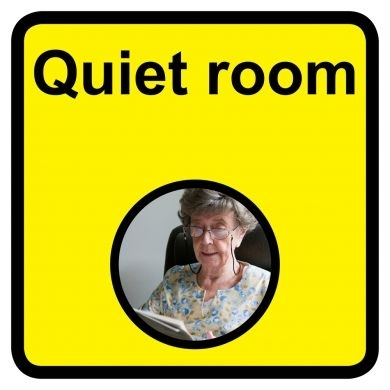 Quiet Room sign - 300mm x 300mm