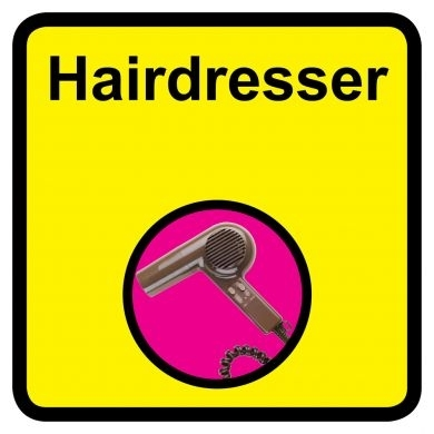 Hairdresser sign - 300mm x 300mm