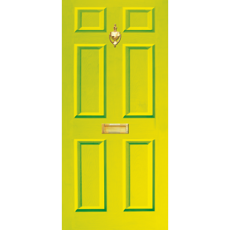 Door Decal Dementia Freindly with Letterbox and Knocker - Lime Green
