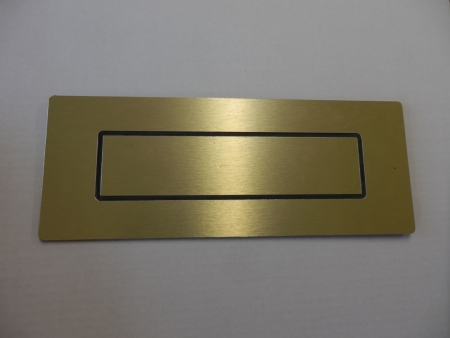 Door Letterbox: Gold - TWIN PACK