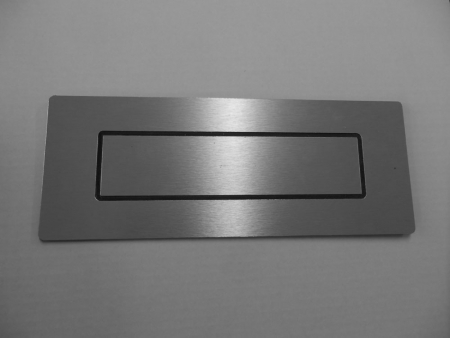 Door Letterbox: Silver - TWIN PACK