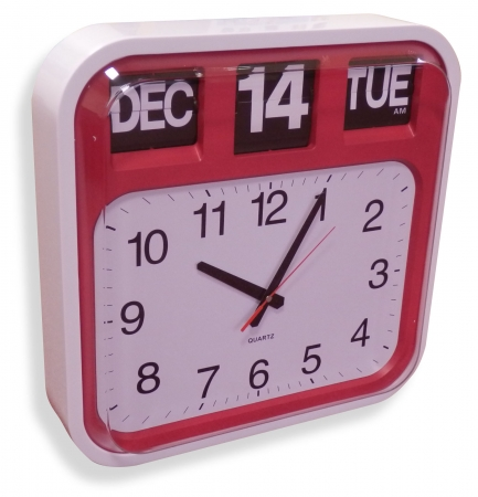Large Dementia Friendly Calendar Wall Clock