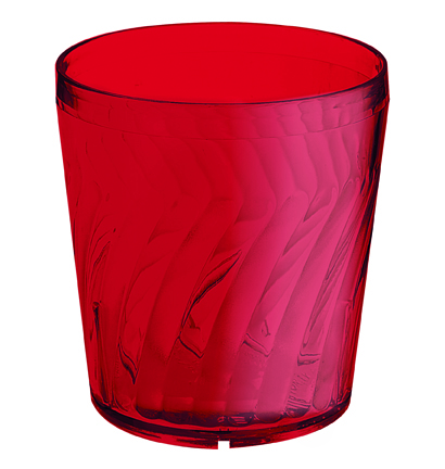 6 Plastic tumblers: Red. Different sizes available