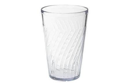 6 Plastic tumblers: Clear - 473ml
