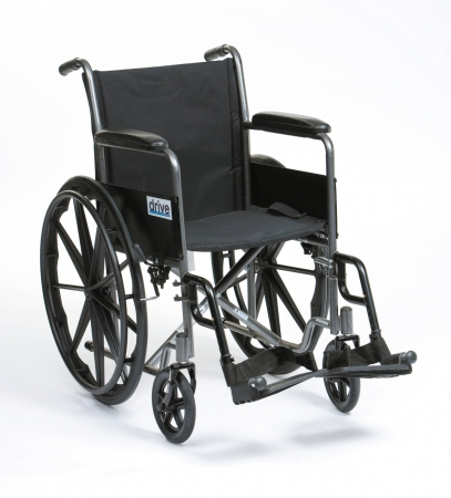 "18"" Silver Sport Self Propel Wheelchair"