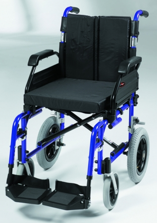 "18"" XS Aluminium Transit Wheelchair (Blue)"