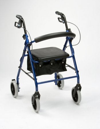 Lightweight Rollator With Bag - Blue