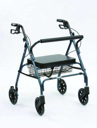 Heavy Duty Rollator (Blue)