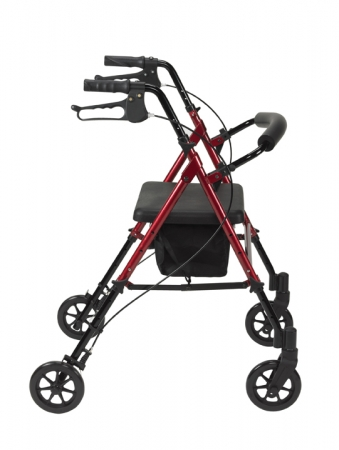Height Adjustable Rollator - Red