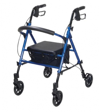 Height Adjustable Rollator - Blue