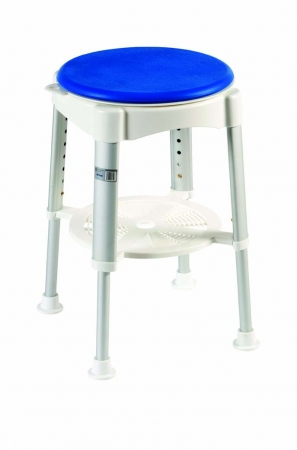 Shower Stool With Rotating Padded Seat