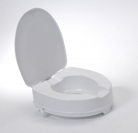 Raised Toilet Seat With Lid - 4""