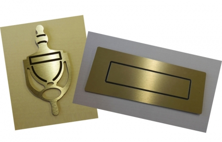 Door Knocker and Letterbox: Gold - COMBINATION PACK