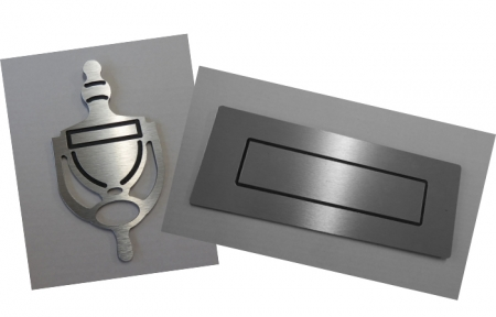 Door Knocker and Letterbox: Silver - COMBINATION PACK