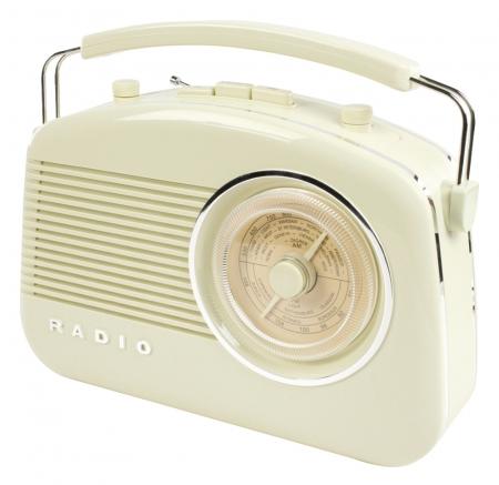 Konig Retro Design Radio - Ivory