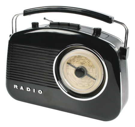 Konig Retro Design Radio - Black