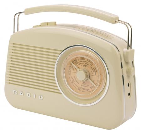 Konig Retro Design DAB+ Radio - Beige