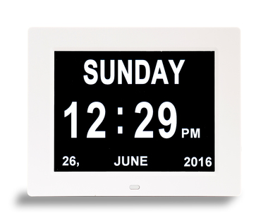 Dual Display Digital Day Clock - Available in two sizes