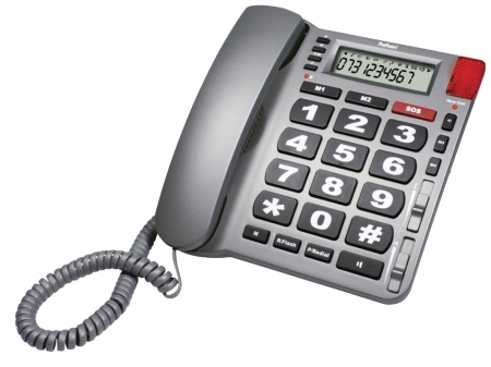 Big Button Emergency Phone - Grey