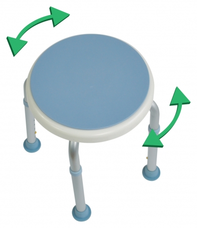 Shower and Bath Stool with Rotating Seat
