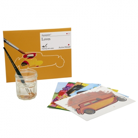Aquapaint - Loves & Favourite Pastimes: Reusable painting book
