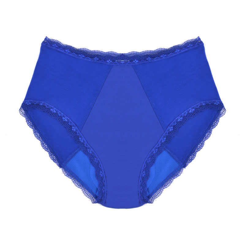 Moderate absorbency underwear, full brief style, bamboo, blue. Different sizes available