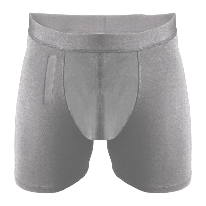 Light absorbency briefs (with fly), grey. Different sizes available