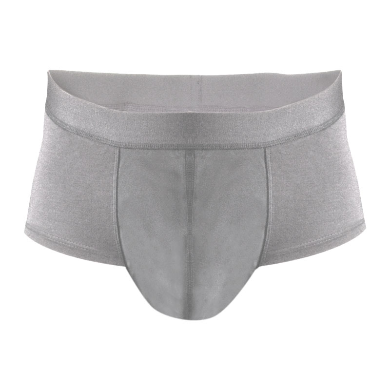 Eco friendly, washable, moderate absorbency underwear. Short brief style in grey.