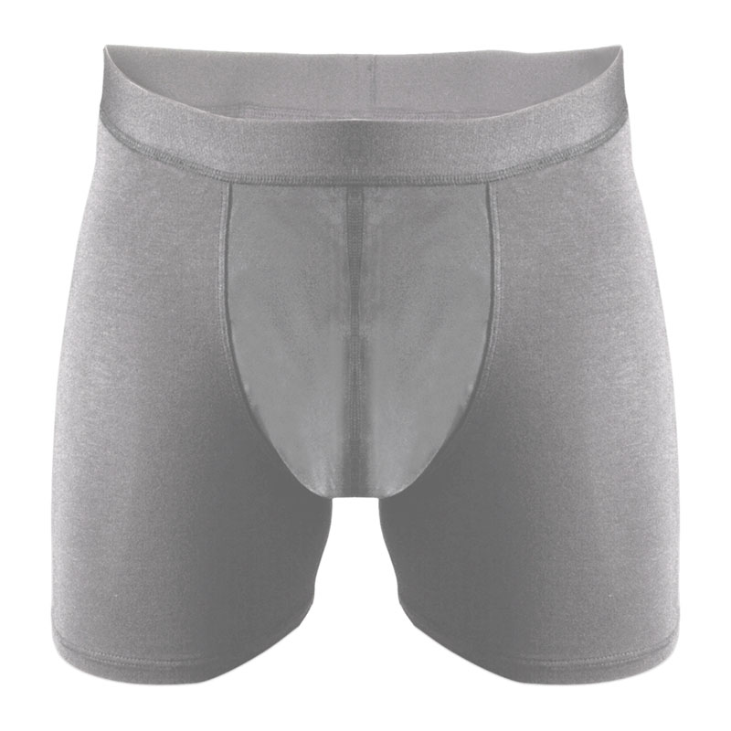 Eco friendly, washable, moderate absorbency underwear. Traditional brief style in grey.