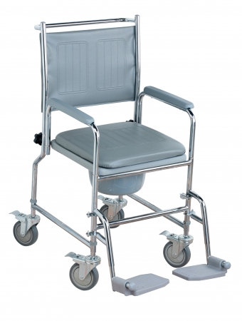 NRS Wheeled Commode - Height Adjustable