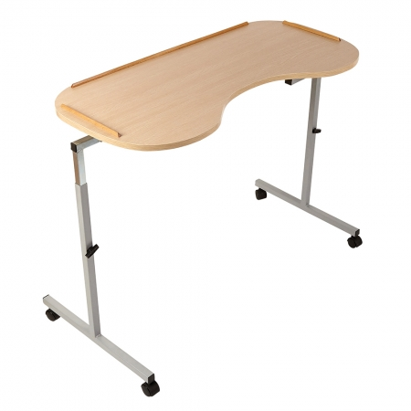 Adjustable Curved Overbed/Chair Table