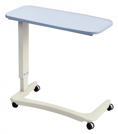 Easylift Overbed / Chair Table Light Blue - Wheelchair version