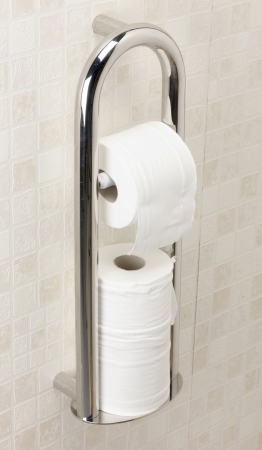 Spa Toilet Roll Holder with Grab Rail