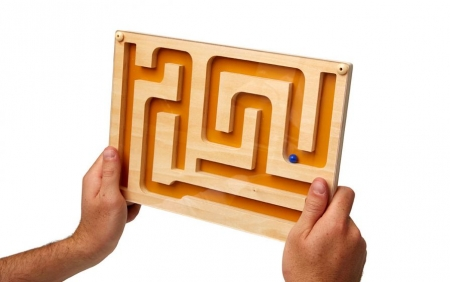 Track Maze Puzzle for People with Dementia
