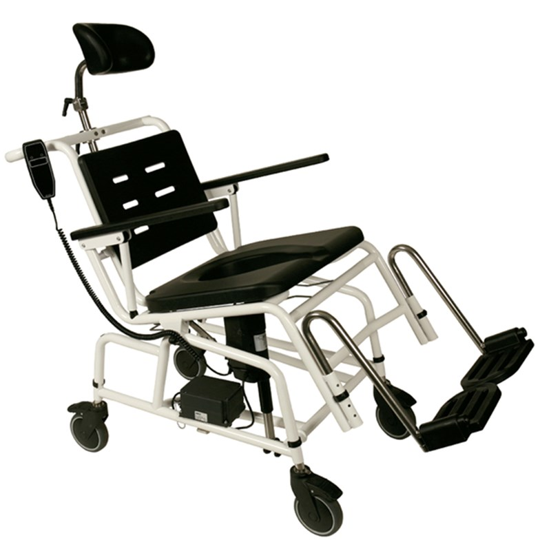 Combi Shower Chair/Commode - Adjustable, Mobile with Electric Tilt - LI200006RFL