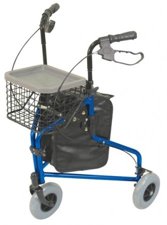 Tri Walker 3-wheeled Aluminium Rollator - Blue